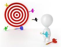 Ziel, Pfeile und Charakter - Verlierer Stockbild