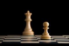 Ziel. Schach. Fokus auf Pfandgegenstand Lizenzfreies Stockbild