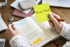 Ziel-Schlag-Ziel-Aspiration glauben hoffnungsvollem Auftrag-Konzept stockfoto