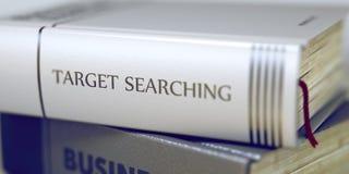 Ziel-Suchen - Buch-Titel 3d Stockfotos
