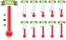 Ziel-Thermometer Lizenzfreies Stockfoto