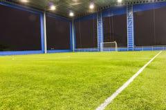 Ziel und Feld des Fußballs (Fußball) stockbilder