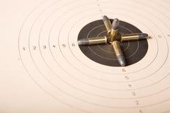 Ziel und Gewehrkugeln Stockfoto