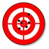 Ziel und Schüsse Stock Abbildung
