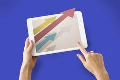 Ziel-Verbesserungs-Herausforderungs-Ikonen-Konzept Lizenzfreies Stockbild