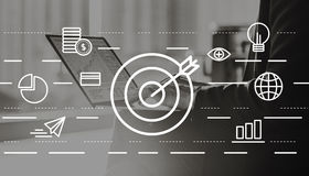 Ziel-Visions-Auftrag-kreatives Ideen-Konzept Stockfotografie