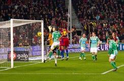 Ziel von Keita (FC Barcelona) Stockfotografie