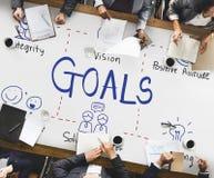 Ziel-Ziel-Aspiration glauben Inspirations-Ziel-Konzept Lizenzfreie Stockfotos