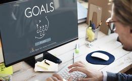 Ziel-Ziel-Aspiration glauben Inspirations-Ziel-Konzept Stockfoto