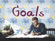 Ziel-Ziel-Aspiration träumt Inspirations-Ziel-Konzept Stockbilder