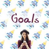 Ziel-Ziel-Aspiration träumt Inspirations-Ziel-Konzept Lizenzfreie Stockfotografie