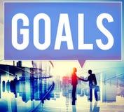 Ziel-Ziel-Aspirations-Motivations-Ziel-Visions-Konzept Lizenzfreie Stockfotos