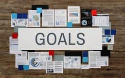 Ziel-Ziel-Aspirations-Motivations-Ziel-Visions-Konzept Lizenzfreie Stockfotografie