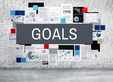 Ziel-Ziel-Aspirations-Motivations-Ziel-Visions-Konzept Lizenzfreies Stockbild