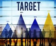 Ziel-Ziel-Aspirations-Visions-Lösungs-Konzept Lizenzfreie Stockfotografie