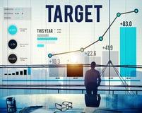 Ziel-Ziel-Aspirations-Ziel-Visions-Erfolgs-Konzept Lizenzfreie Stockfotos