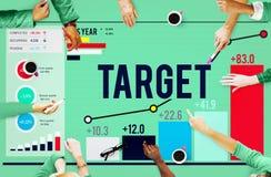 Ziel-Ziel-Aspirations-Ziel-Visions-Erfolgs-Konzept Lizenzfreie Stockfotografie