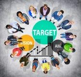 Ziel-Ziel-Aspirations-Ziel-Visions-Visions-Konzept Lizenzfreies Stockfoto