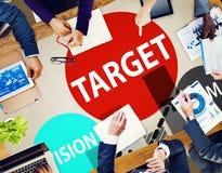 Ziel-Ziel-Aspirations-Ziel-Visions-Visions-Konzept Lizenzfreies Stockbild