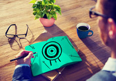 Ziel-Ziel-Erfolgs-Aspirations-Ziel-Inspirations-Konzept Stockbild