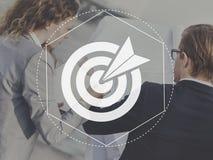 Ziel-Ziel-Erwartungs-Leistungs-Grafik-Konzept Lizenzfreies Stockbild