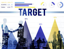 Ziel-Ziel-Visions-Aspirations-Erfolgs-Inspirations-Konzept Stockbilder