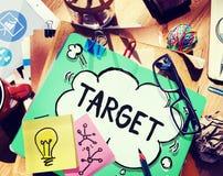 Ziel-Ziel-Visions-Inspirations-Auftrag-Konzept Stockfoto