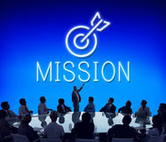 Ziel-Ziel-Ziel-Aspirations-Fokus-Visions-Grafik-Konzept Lizenzfreie Stockfotos