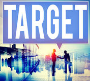 Ziel-Ziel-Ziel-Inspirations-Lösungs-Erfolgs-Visions-Konzept Lizenzfreies Stockbild