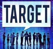 Ziel-Ziel-Ziel-Inspirations-Lösungs-Erfolgs-Visions-Konzept Lizenzfreie Stockfotos