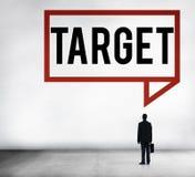 Ziel-Ziel-Ziel-Inspirations-Lösungs-Erfolgs-Visions-Konzept Lizenzfreie Stockbilder