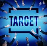 Ziel-Ziel-Ziel-Inspirations-Lösungs-Erfolgs-Visions-Konzept Stockbild