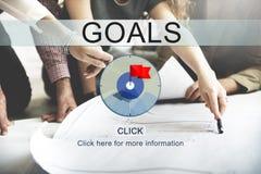 Ziel-Ziel-Zweck-Auftrag-Ziel-Konzept Lizenzfreie Stockfotos