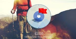 Ziel-Ziel-Zweck-Auftrag-Ziel-Konzept Lizenzfreies Stockfoto