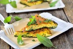 Zielarski omelette obraz stock