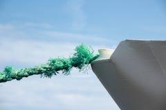 Zieleń będąca ubranym kotwicowa arkana na statku łęku Fotografia Royalty Free