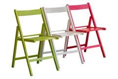 Zieleń, biel i czerwony krzesło jak włoch flaga, obraz stock