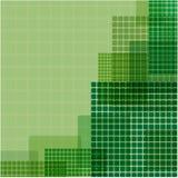 Zieleń kwadraty różny rozmiar Zdjęcie Royalty Free