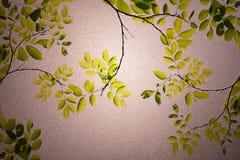 Zieleń liści frosted szkła tekstura jako tło Obrazy Stock