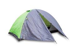 Zieleń otwarty turystyczny namiot fotografia stock
