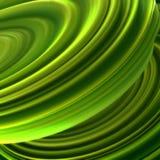 Zieleń przekręcający kształt Komputery wytwarzający abstrakcjonistyczni geometryczni 3D odpłacają się ilustrację Zdjęcie Royalty Free