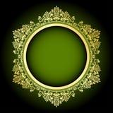 Zieleń & złoto rama royalty ilustracja