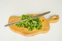Zieleń, ziele, jedzenie, łasowanie, pietruszka, zdrowa, roślina Zdjęcie Stock