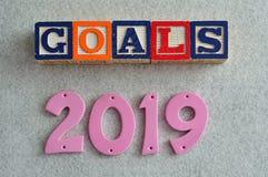 Ziele 2019 Stockfotos