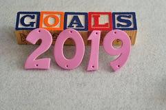 Ziele 2019 Lizenzfreies Stockbild