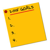 2015 Ziele Stockbilder