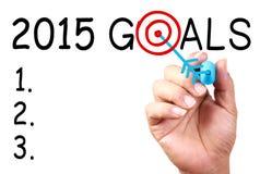 2015 Ziele Lizenzfreies Stockbild