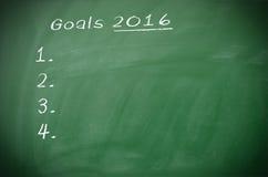 Ziele 2016 Stockbild