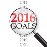2016 Ziele lizenzfreie abbildung