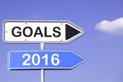 Ziele 2016 Stockbilder